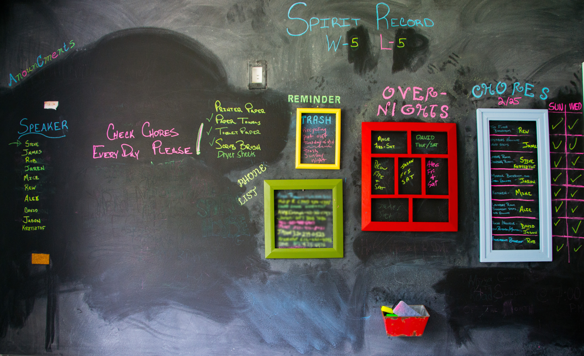 Hazelwood House chalkboard