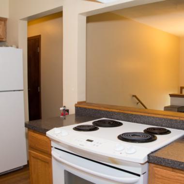 White Bear House stove-countertop