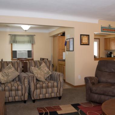 White Bear house living room